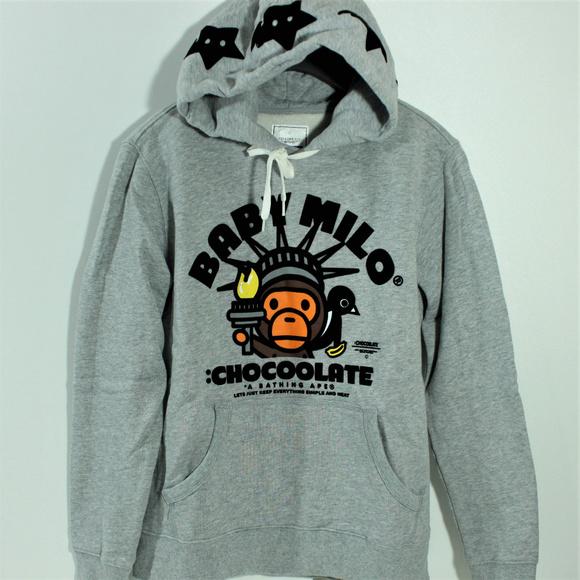 4a6ce3ca Bape Jackets & Coats   Bathing Ape Chocoolate Hoodie Baby Milo Colla ...
